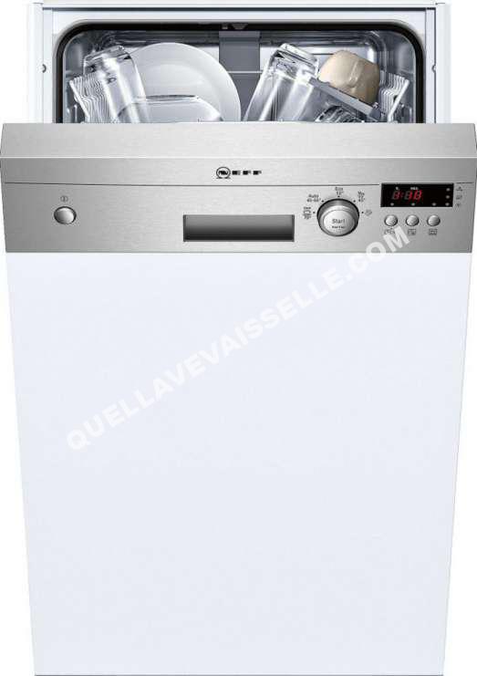 lave vaisselle neff lave-vaisselle 45cm 13c 46db a+ intégrable
